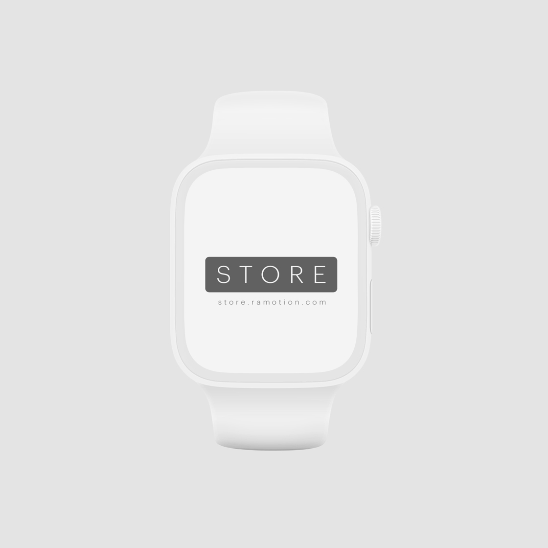 apple watch-4 clay mockup template frontal black psd free