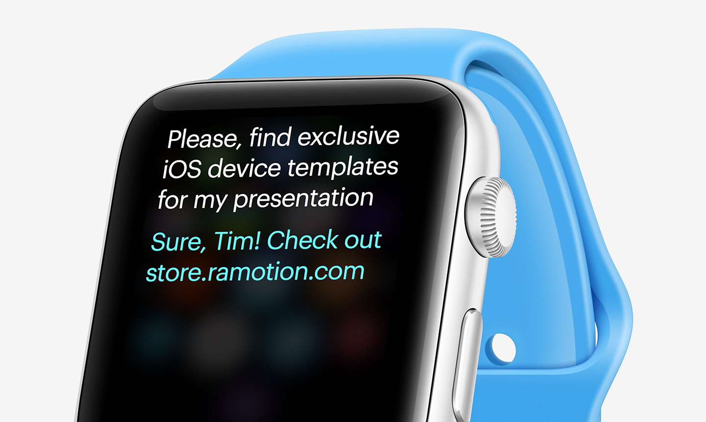 perspective blue apple watch mockup
