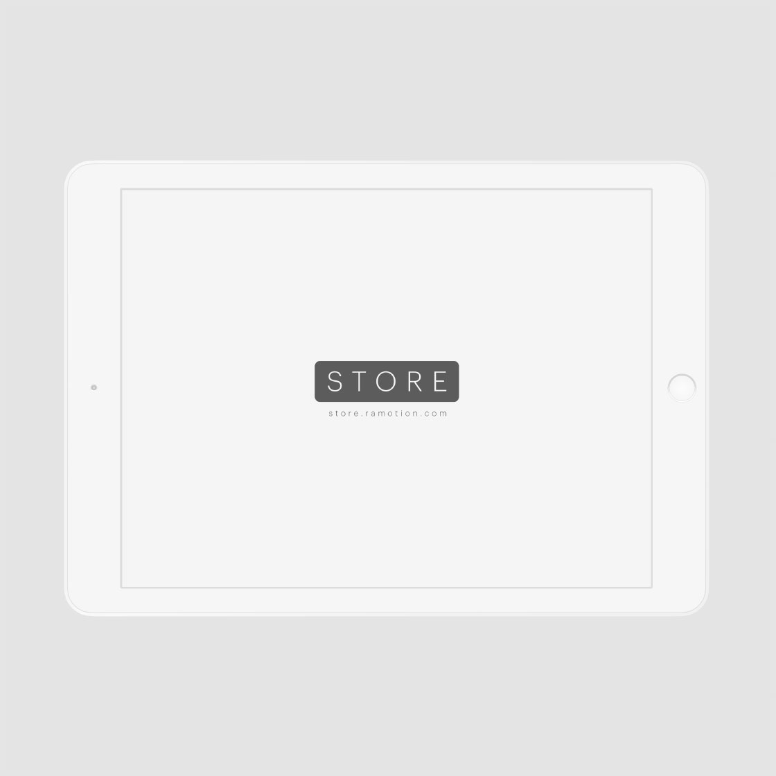 ipad clay mockup template frontal white psd free