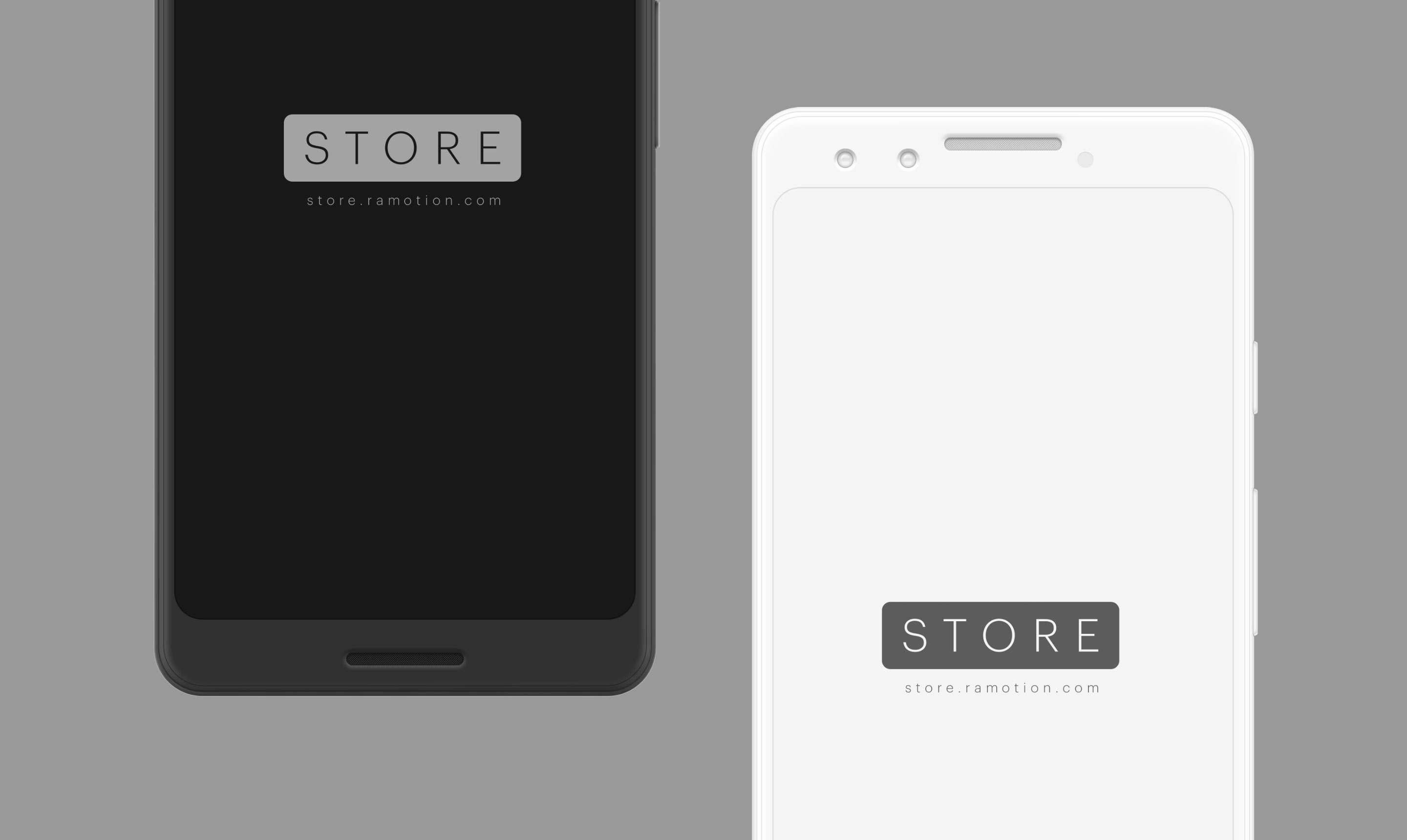 google pixel 3 clay white black frontal mockup psd