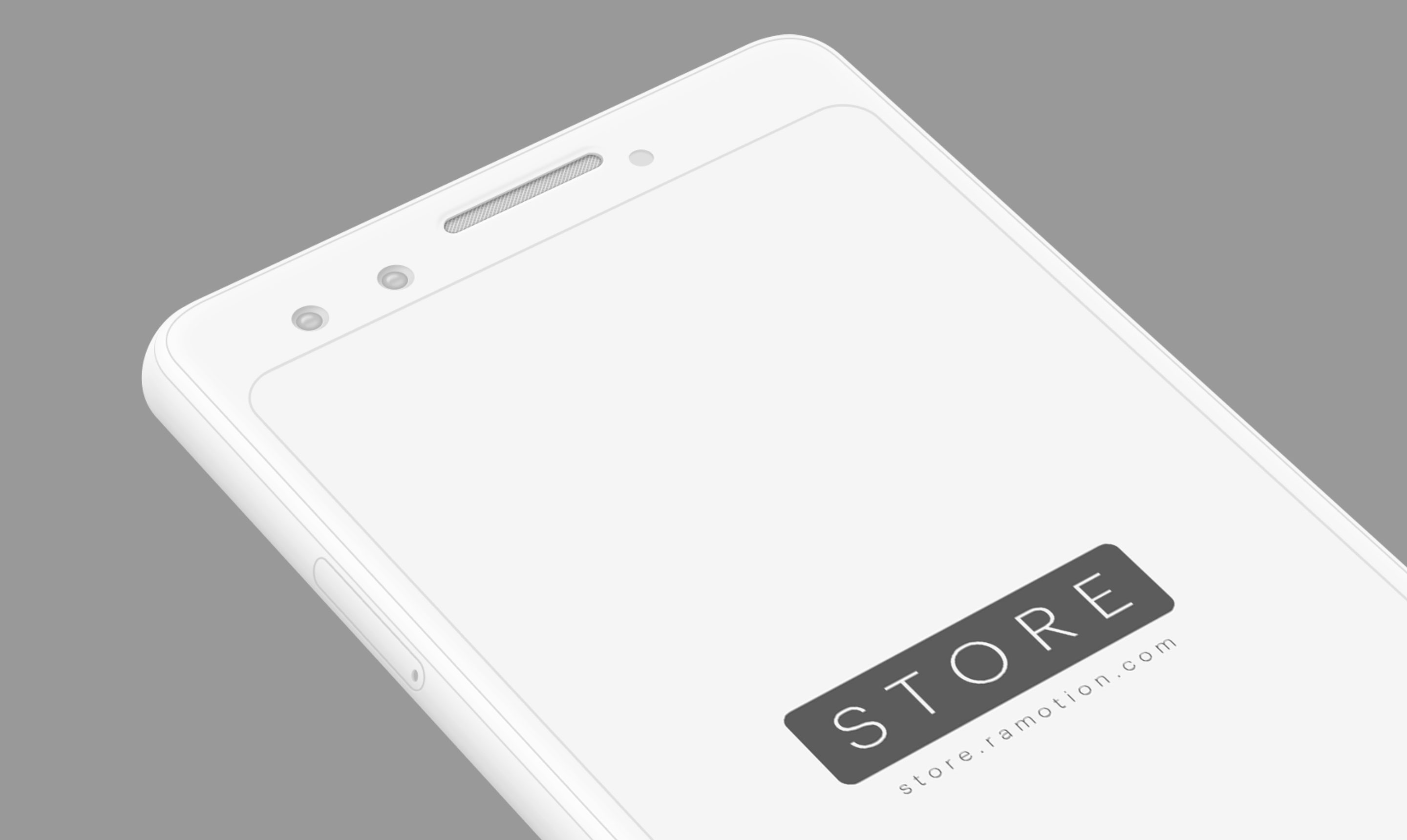 google pixel 3 clay white perspective mockup top psd