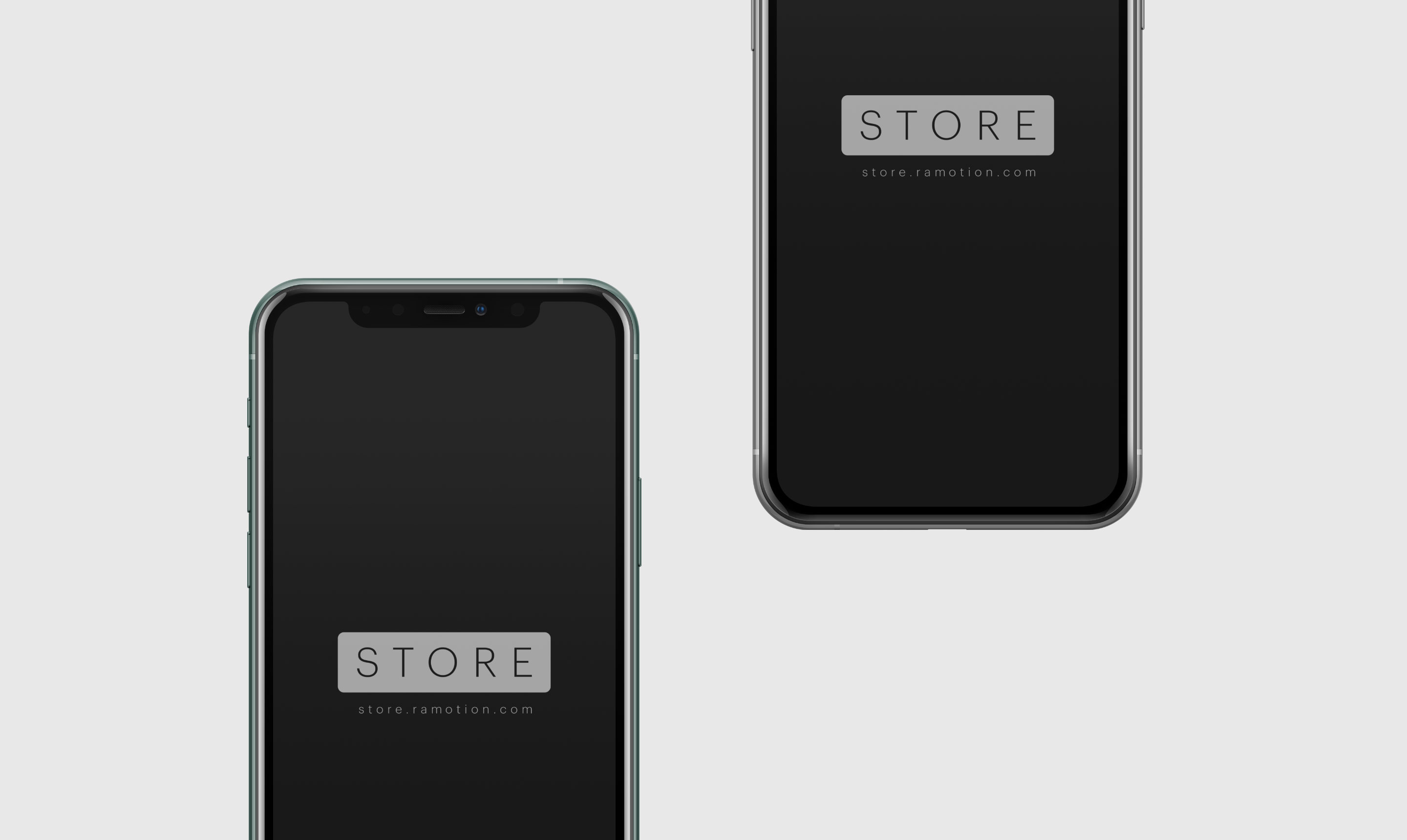 silver iphone 11 pro frontal mockup