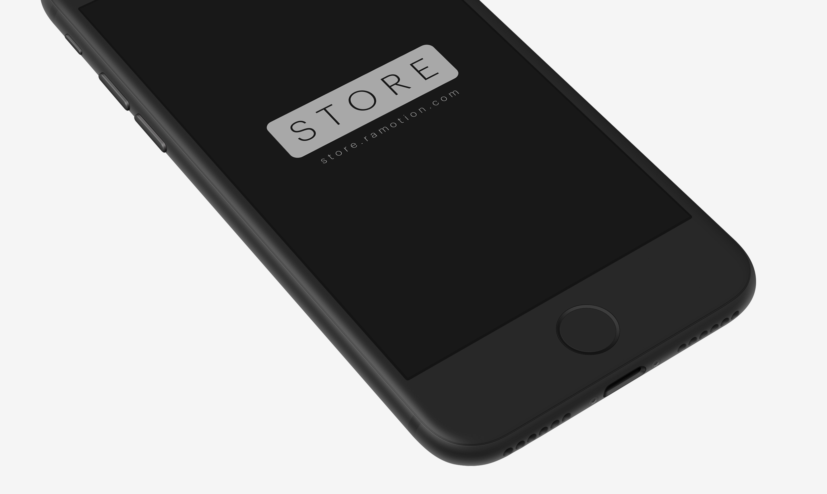 perspective black iphone clay mockup