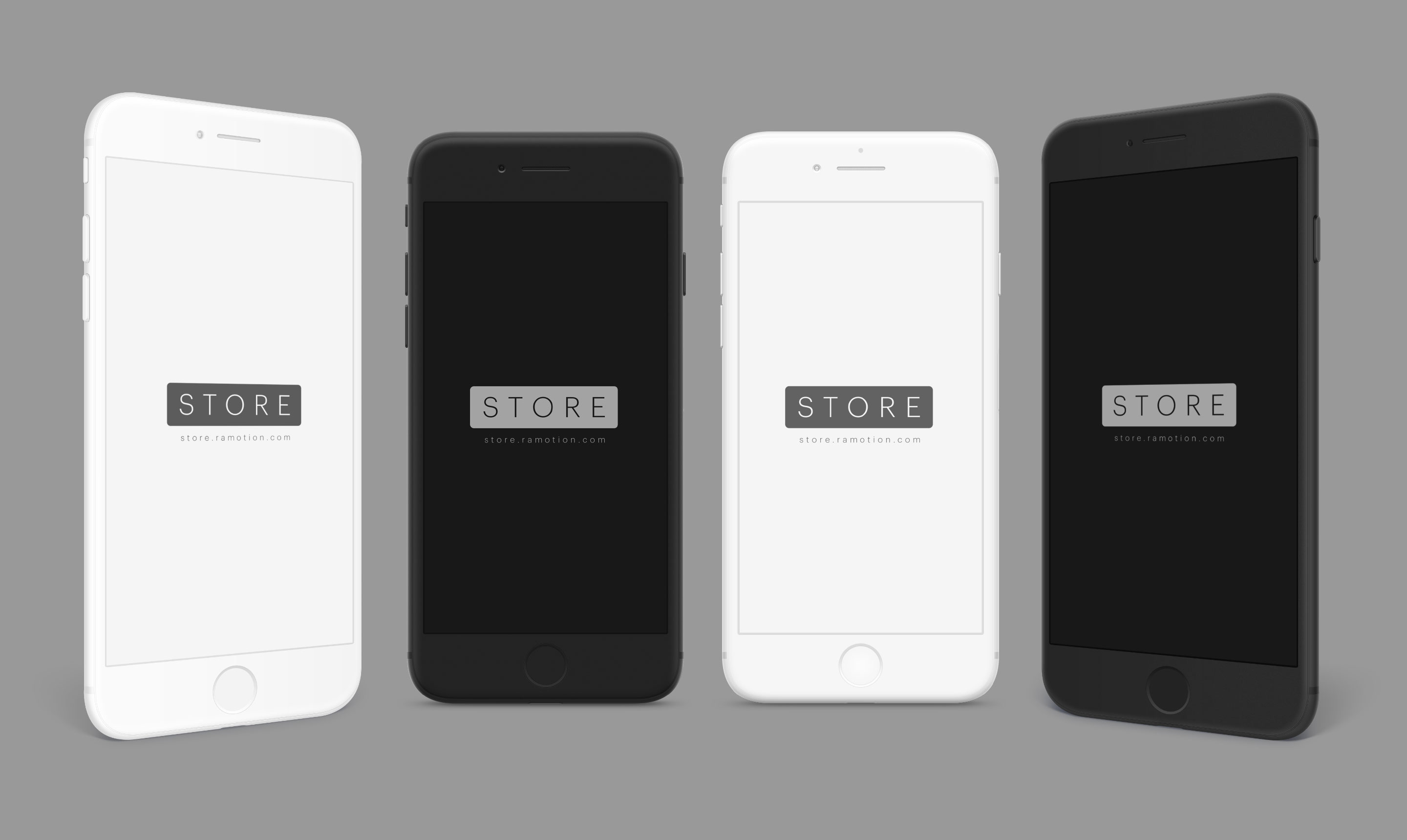 iphone clay black white portrait left right psd