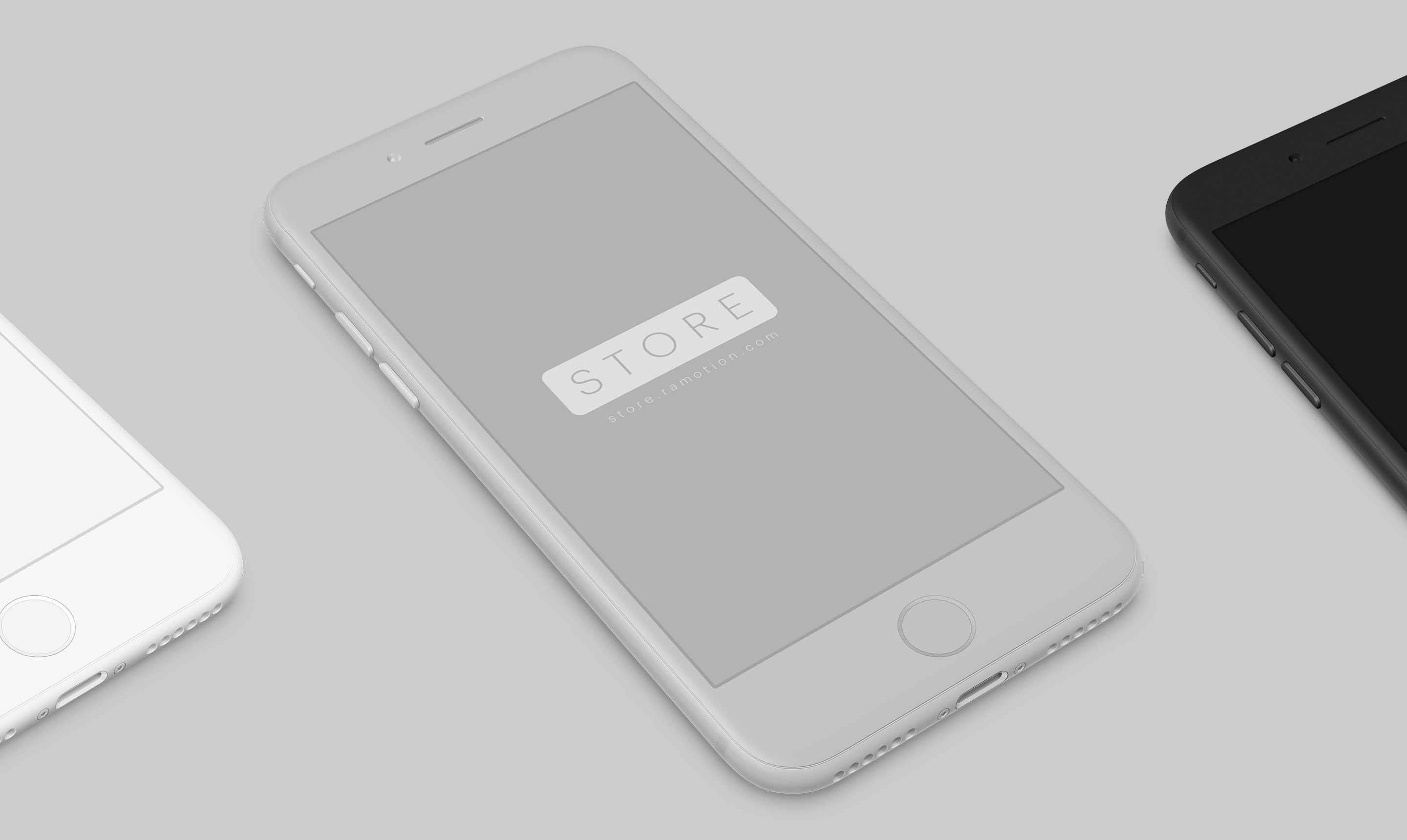 iphone white clay chameleon black perspective psd