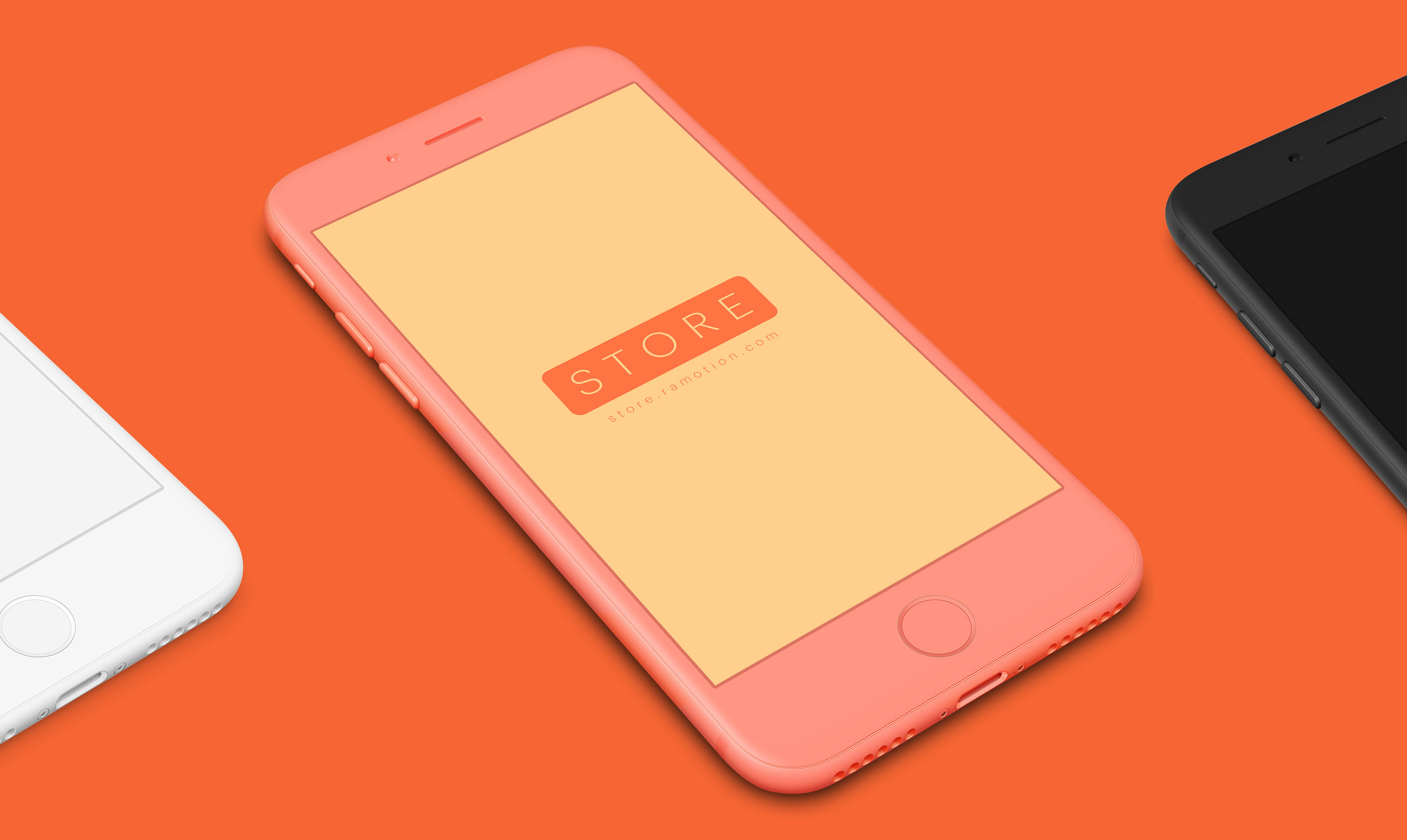 pink iphone clay mockups