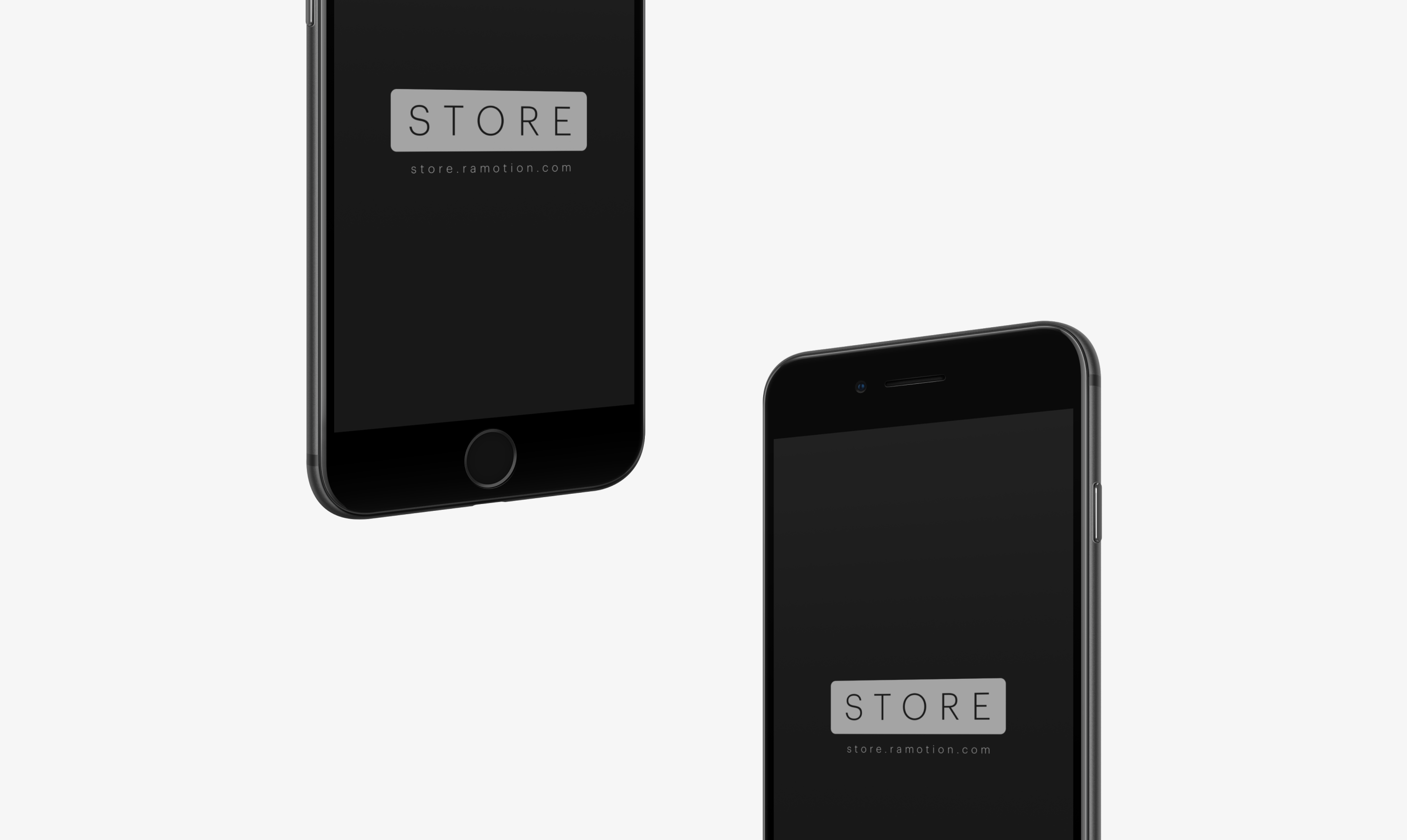 perspective black iphone se mockup