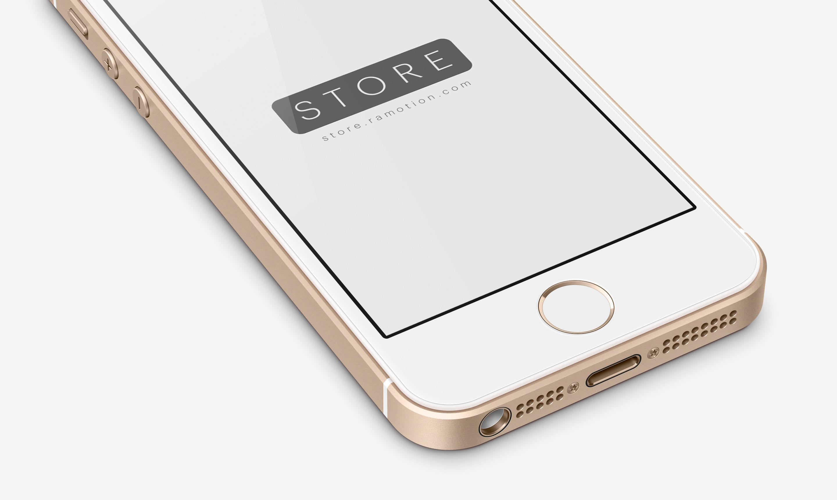 perspective gold iphone se mockup