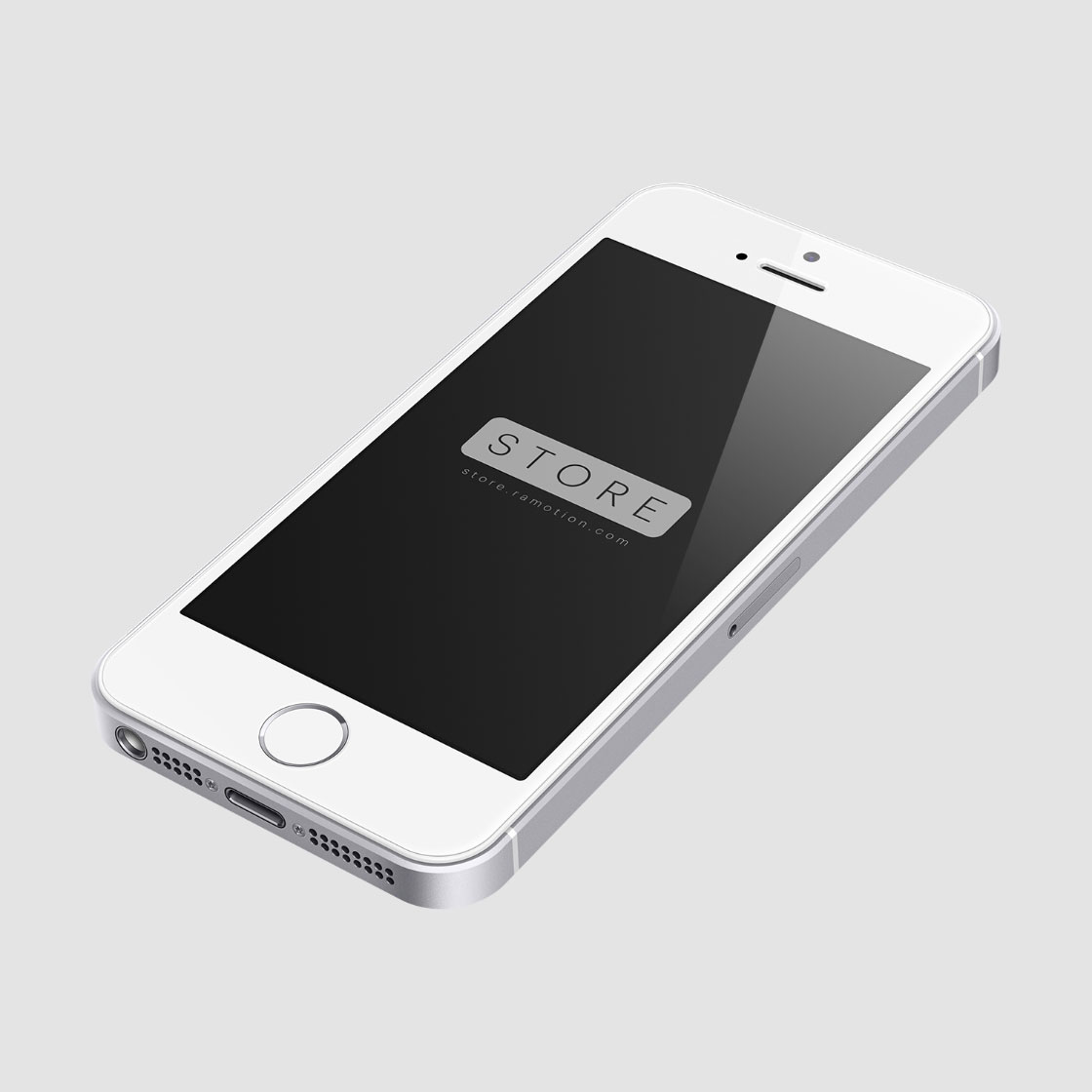 perspective white iphone se mockup