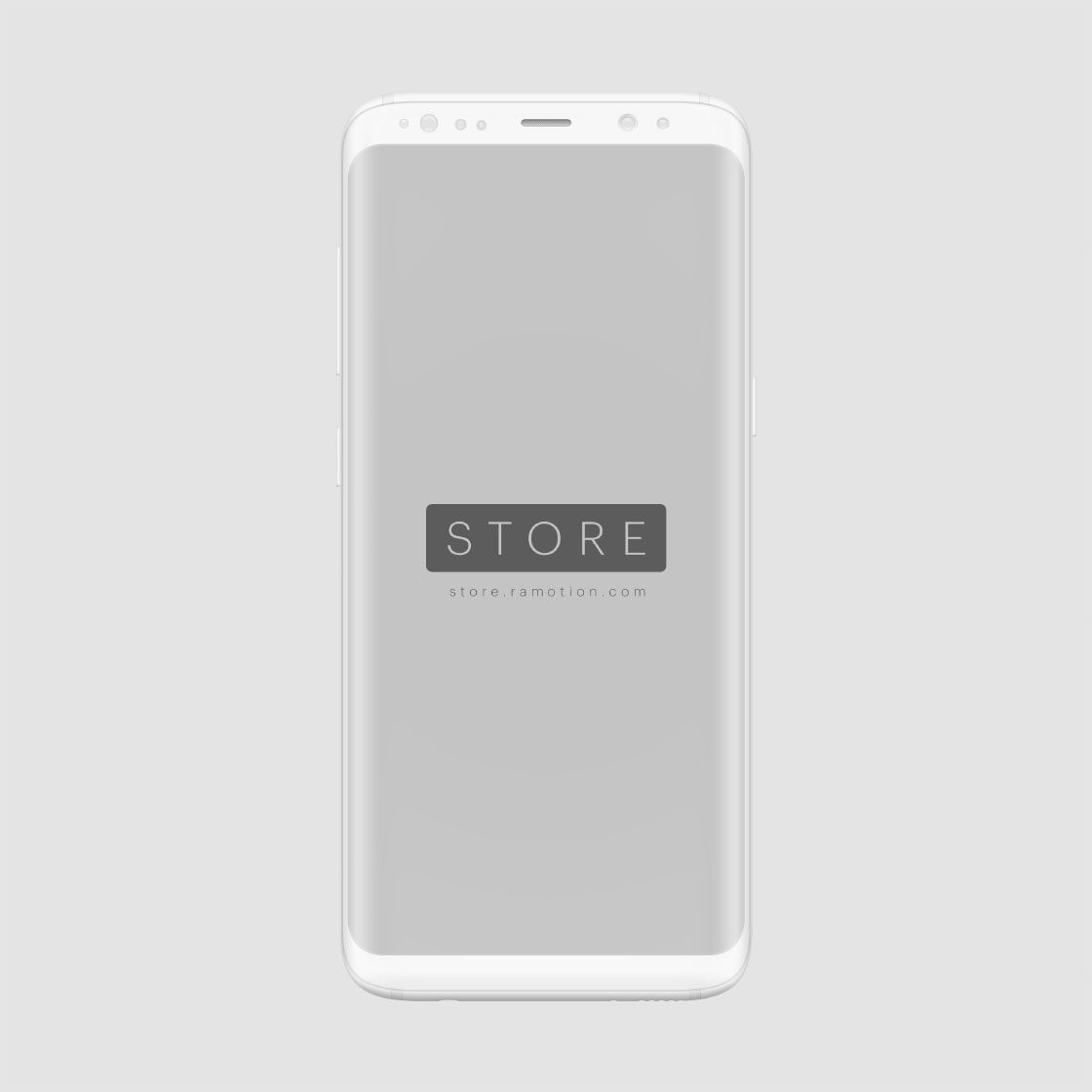frontal white samsung clay mockup