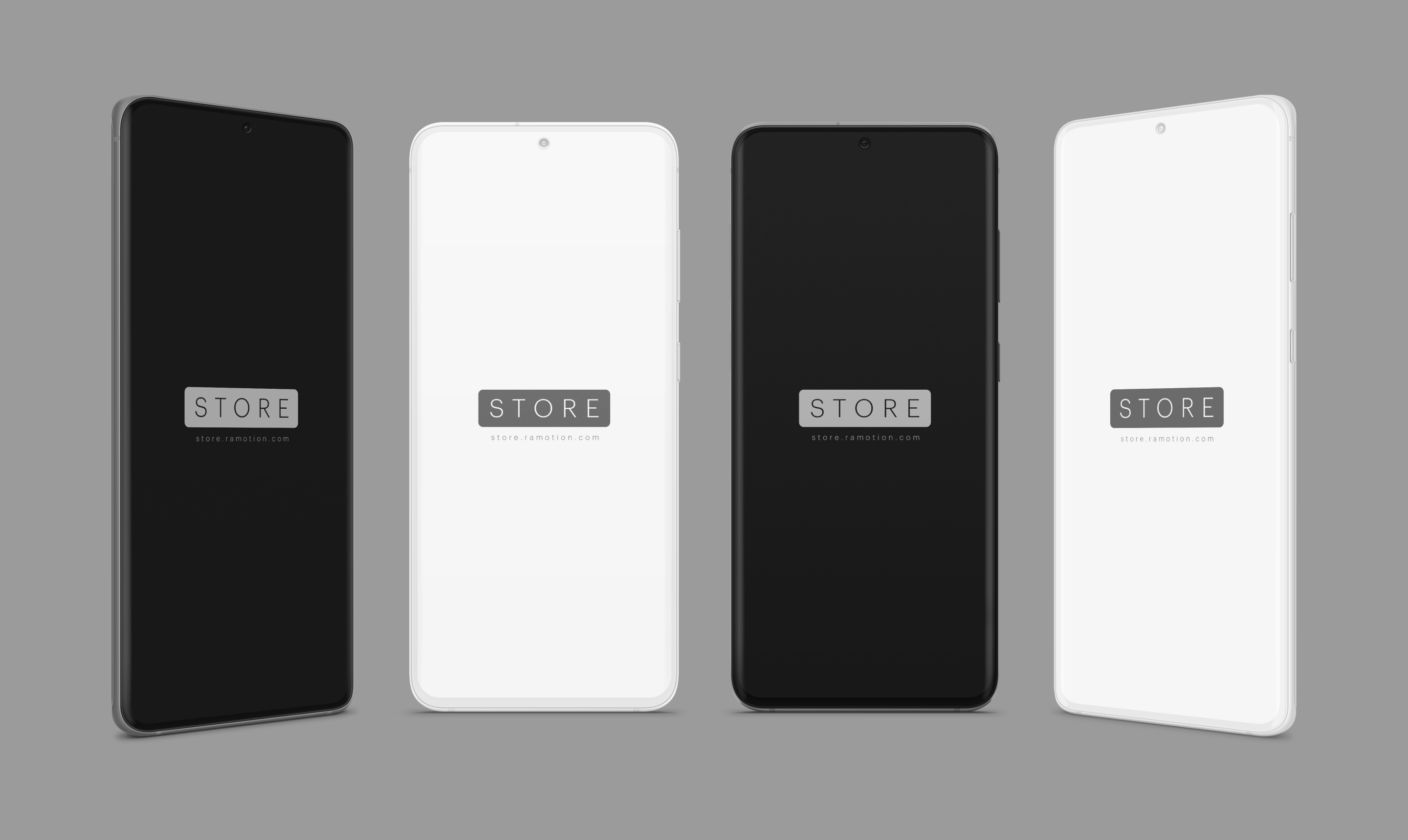 samsung galaxy s7 s8 black white frontal psd