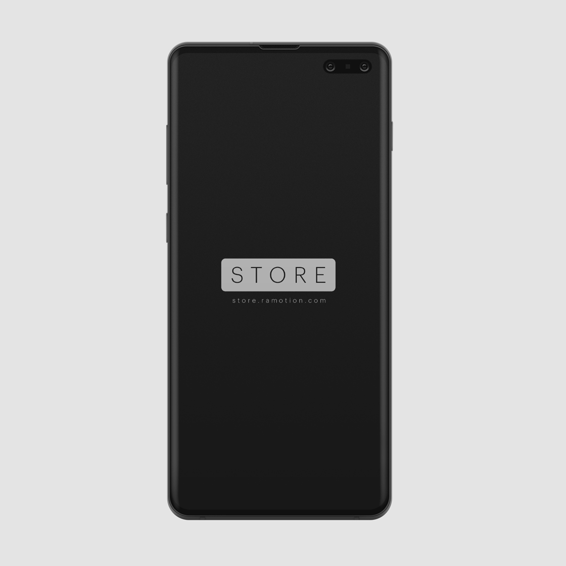 samsung galaxy s10 clay mockup template frontal black psd free