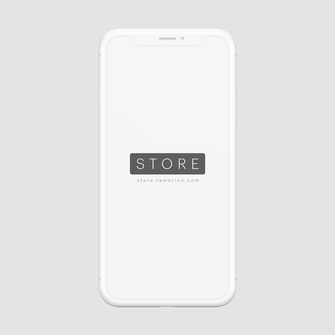 iphone x clay white frontal mockup
