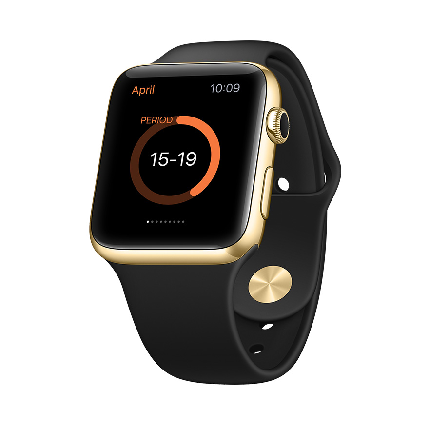 perspective gold apple watch mockup