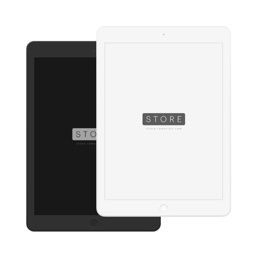iPad clay black frontal psd mockup