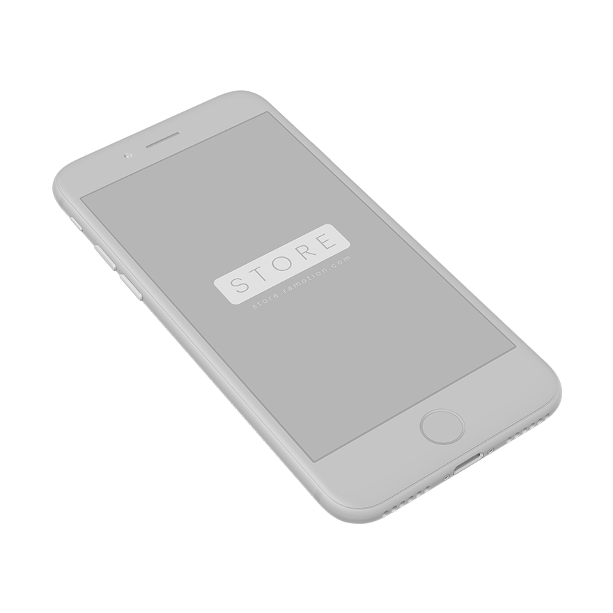 perspective chameleon iphone clay mockup