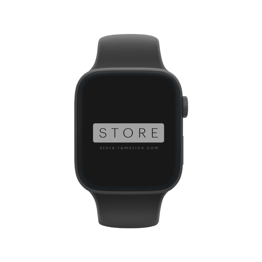 apple watch mockup frontal clay black