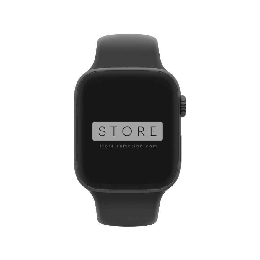 apple watch mockup clay frontal black