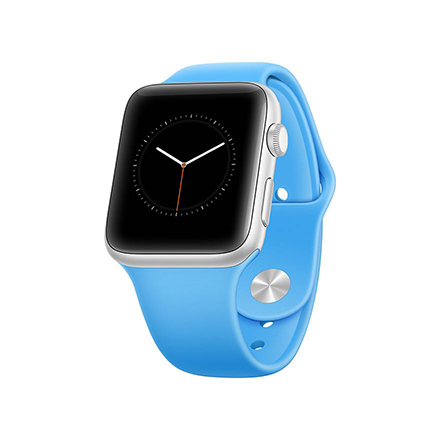 apple watch mockup perspective blue