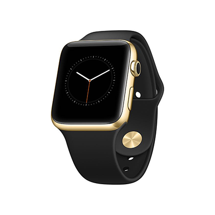 apple watch mockup perspective gold