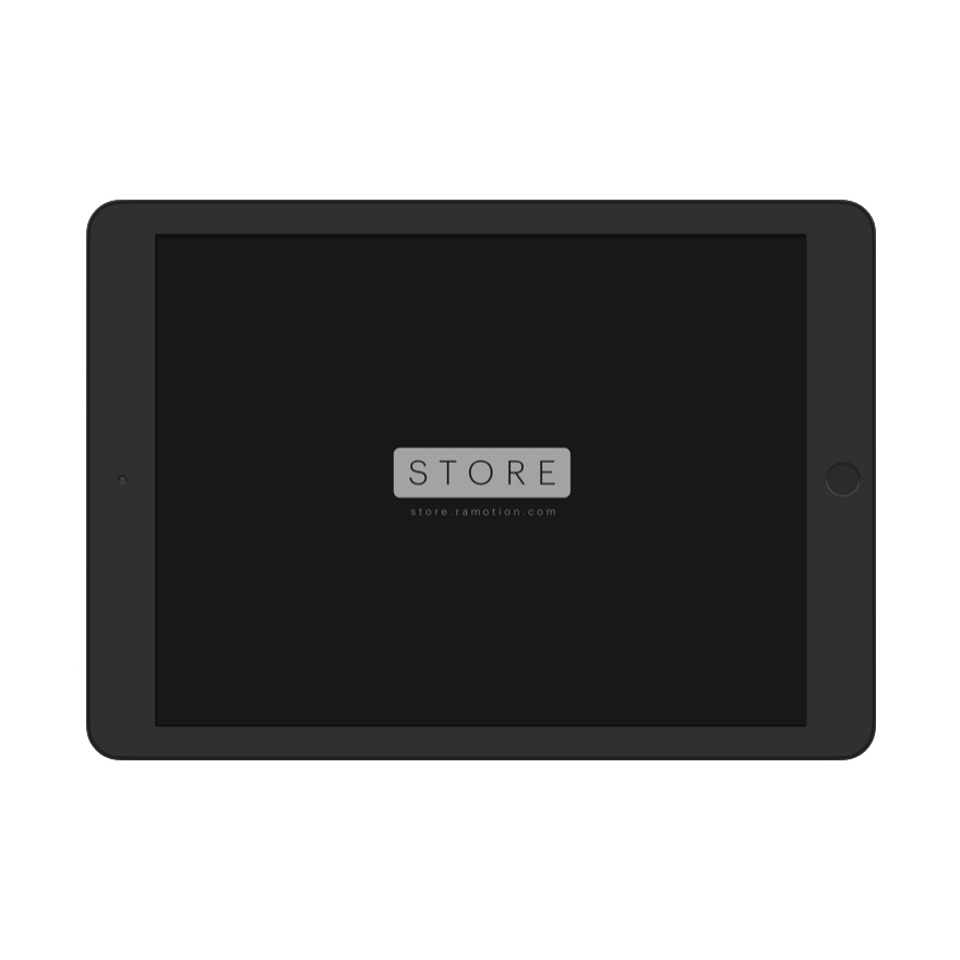 ipad mockup landscape black clay