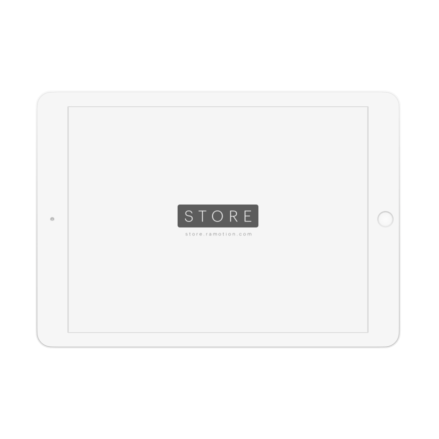 ipad mockup landscape clay white