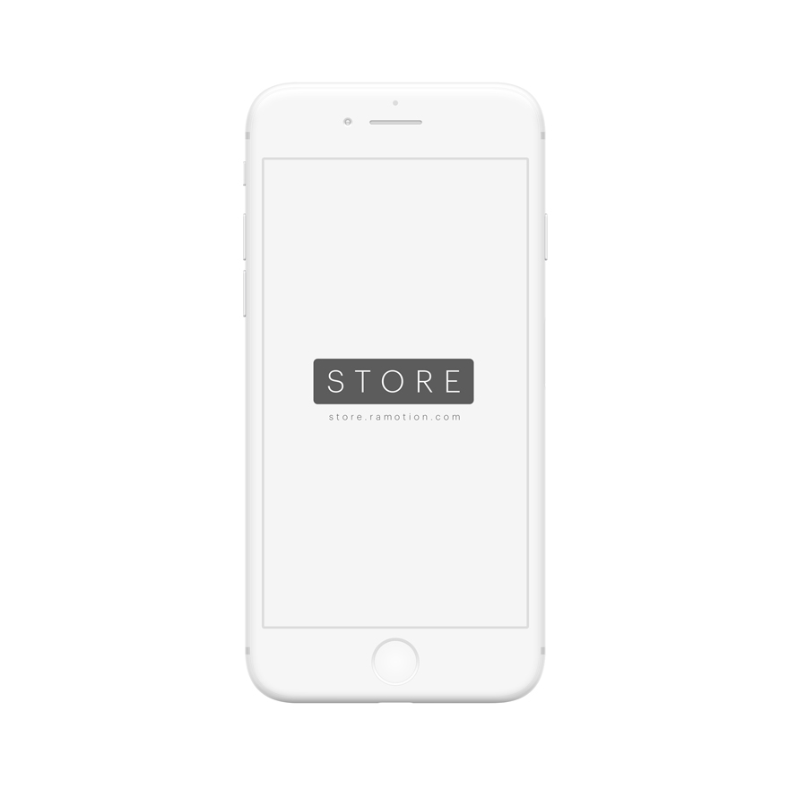 iphone mockup clay 8 frontal white