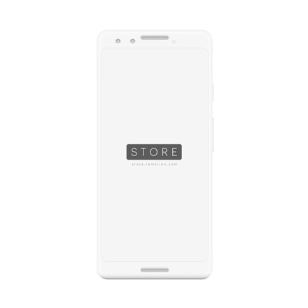 google pixel 3 mockup clay frontal white
