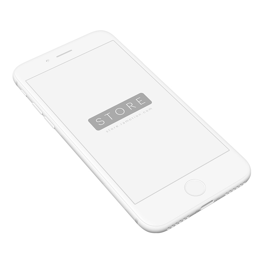 iphone 8 mockup clay perspective white