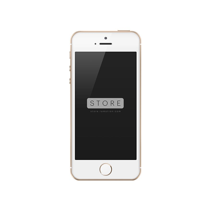 iphone se mockup frontal gold
