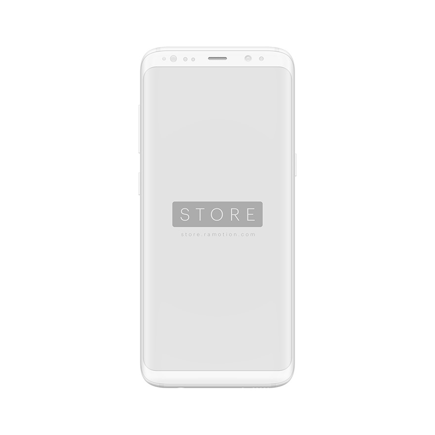 samsung mockup frontal white clay